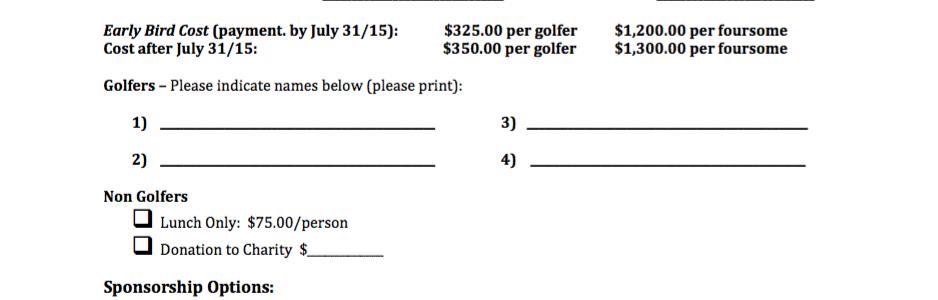 Annual Charity Golf Tournament